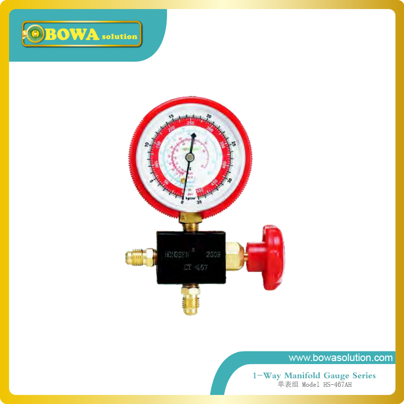 1-Way manifold gauge(R12, R22, R134a and R404a) for refrigerated truck  цены