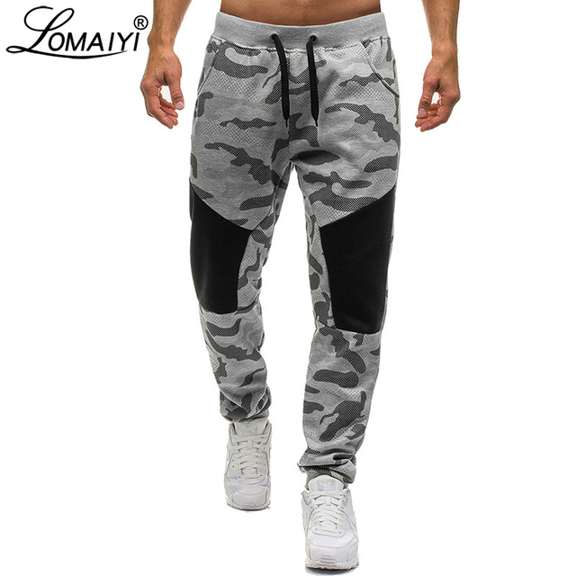 812a9cac50 LOMAIYI New Stretch Sweatpants Men Camo Jogger Pants Men's Trousers  Camouflage Joggers Male Track Pants Mens