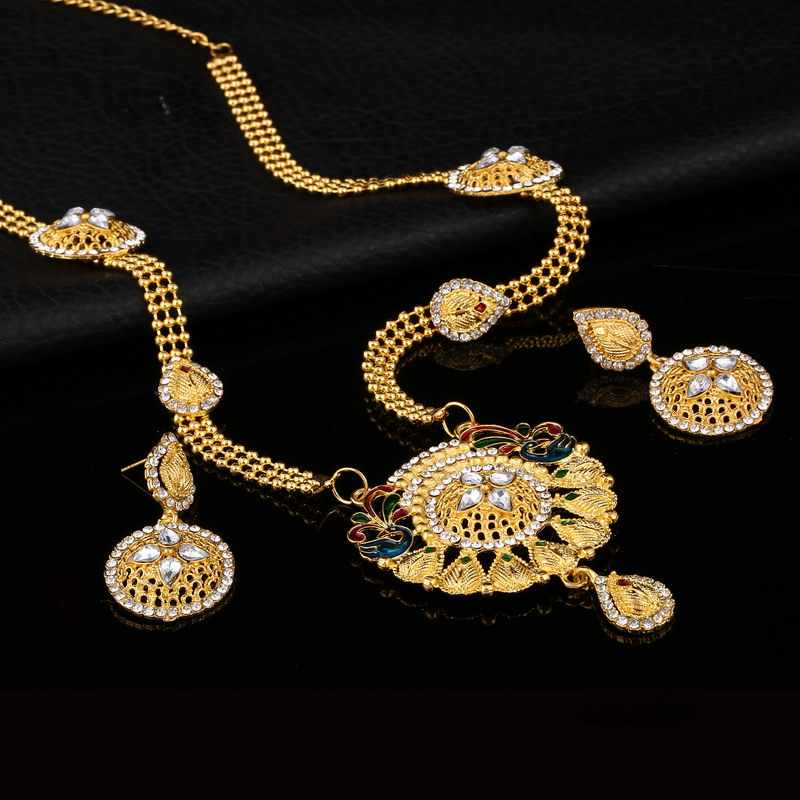 ZOSHI Jewelry sets wedding crystal bridal african women Golden Plated jewelry set necklace earrings dubai jewelry sets women