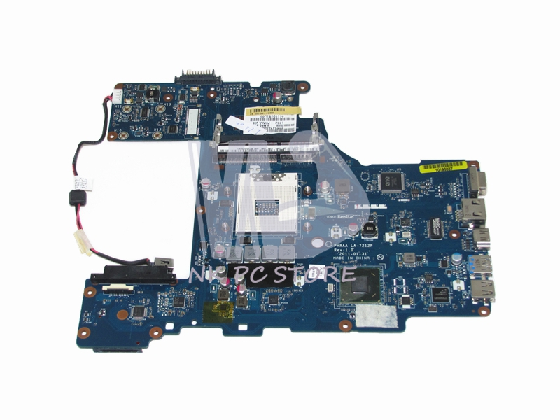K000128610 Main Board For Toshiba Satellite P755 Laptop Motherboard DDR3 HM65 GMA HD PHRAA LA-7212P h000042190 main board for toshiba satellite c875d l875d laptop motherboard em1200 cpu ddr3