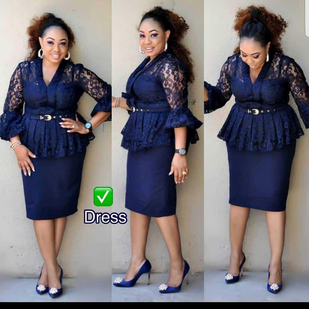 2019 New Arrival Fashion Style African Women Plus Size Lace Dress L-3XL