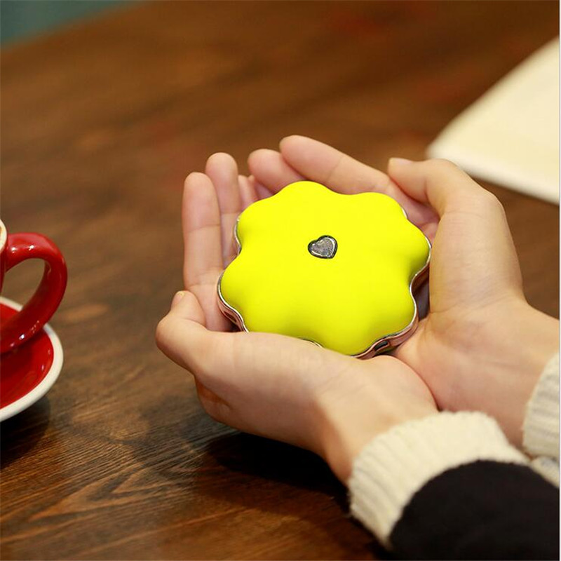Rechargeable Lucky Grass Shape 4000mAh Mini USB Mobile Power Supply Hand Warmer With Pocket Portable For Home Office Student mini portable usb rechargeable hand warmer heater cartoon pig for travel outdoor