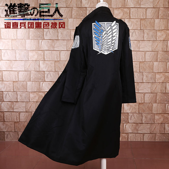 Attack on Titan Levi Rivaille Jacket Cloak Cosplay Costume