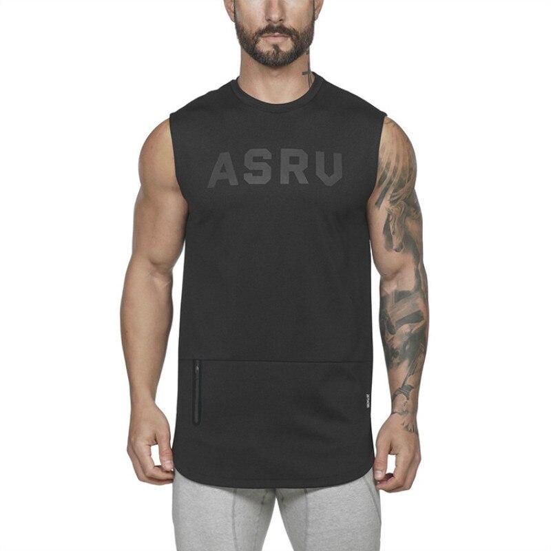 2019 Summer Gyms Cotton Zipper Vest Men Bodybuilding Undershirt Sleeveless shirt Men Gym Fitness Men   Tank     Tops   Sporting Vest