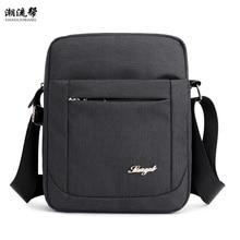 2019 Men's Bag Nylon Shoulder Bag Small Waterproof Diagonal Bag Men's Black Zipper Business Bag Bolsos Mujer Sac A Main Modis