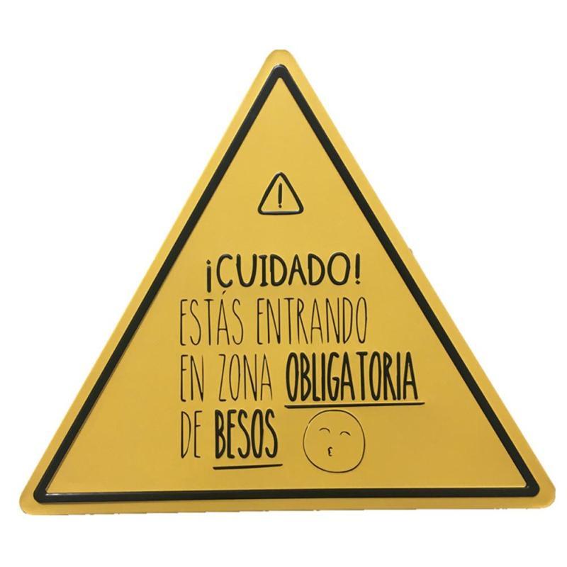 Ретро металлическая банка трафика Детская безопасность Предупреждение знаки малыш зоны Бесплатный Wi-Fi опасность живопись плакат Винтаж до...