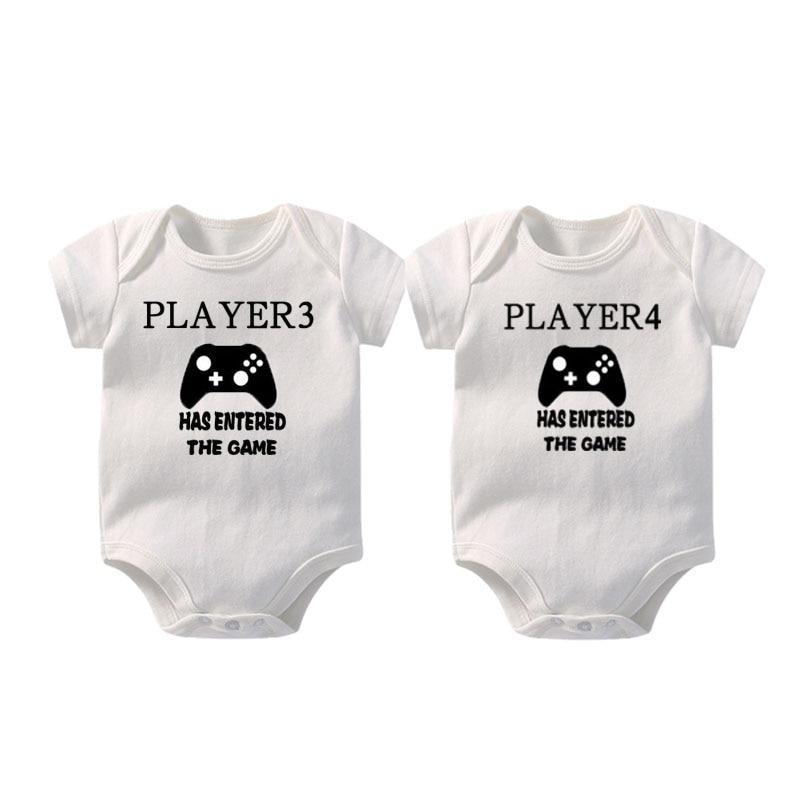 Personalised Player Game Baby Bodysuit Girl Boy Shower Gift Christening Newborn