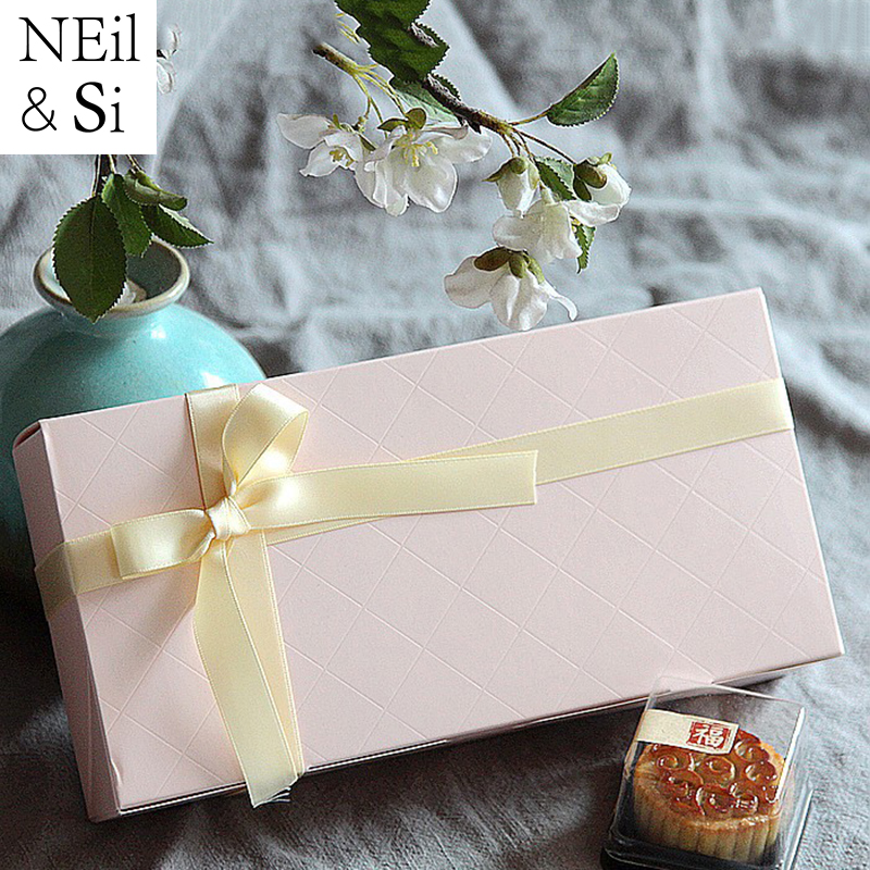 Gift Paper Box Christmas Bakery Macarons CupCake Cookies Wedding Candy Handmade Soap Packaging Box Pink Green Brown