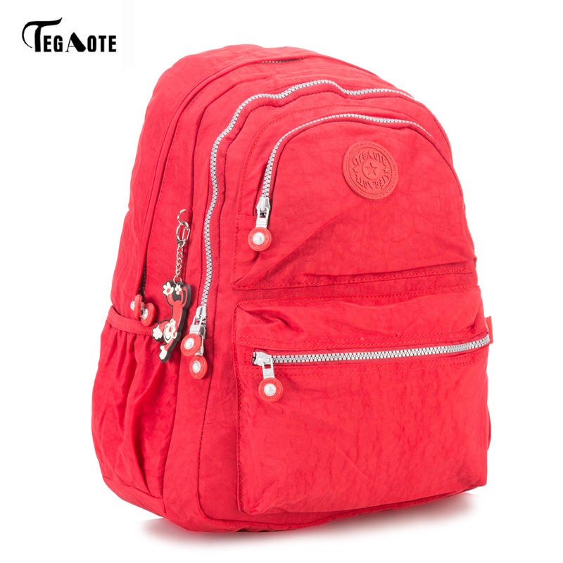 TEGAOTE 2017 Women Nylon Backpacks Ladies Shoulder School Bag Rucksack For Girls Travel Fashion Bag Bolsas Mochilas Sac A Dos 2018 nylon fashion backpacks women young ladies backpack girl student school bag for laptop travel bag black mochilas hot sale