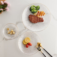 2 Pack ins Nordic Phnom Penh Household Glass Plate Salad Bowl Plate Dinner Plate Steak Cold Plate