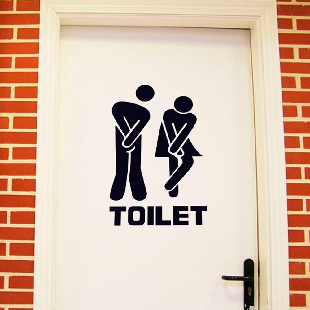 Waterproof Toilet Sign Wall Sticker Art Mural for Toilet Bathroom Door Decoration-35