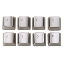 Wholesale Metal Keycap QWERASDF 8 Key Cap For Cherry MX Switches And Kailh Switches Mechanical Keycaps