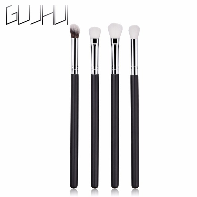 4Pcs Wood Makeup Brushes Set Foundation EyeShadow Concealer Brush Blending Contour make up Tools pincel maquiagem