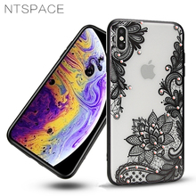 Flower Silicone Phone Cases for iPhone 8 7 6 6s Plus 3D Lace Girl Soft TPU Back Cover For X Xs Max XR