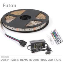 5m DC5V IR Remote Control RGB LED Light Strip With Adapter SMD5050 Waterproof  Flexible Tape For TV Backlight,Wardrobe light DIY цены онлайн