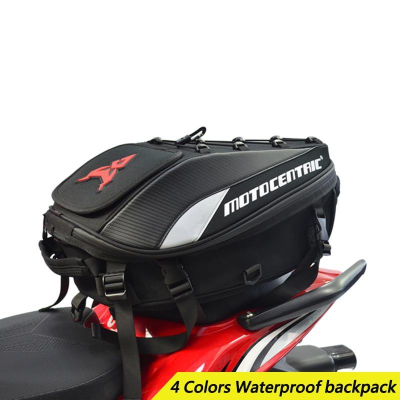Étanche Moto sac sur porte-bagages Multi-fonctionnelle Durable Arrière Moto sacoche Haute Capacité Moto Rider Sac À Dos