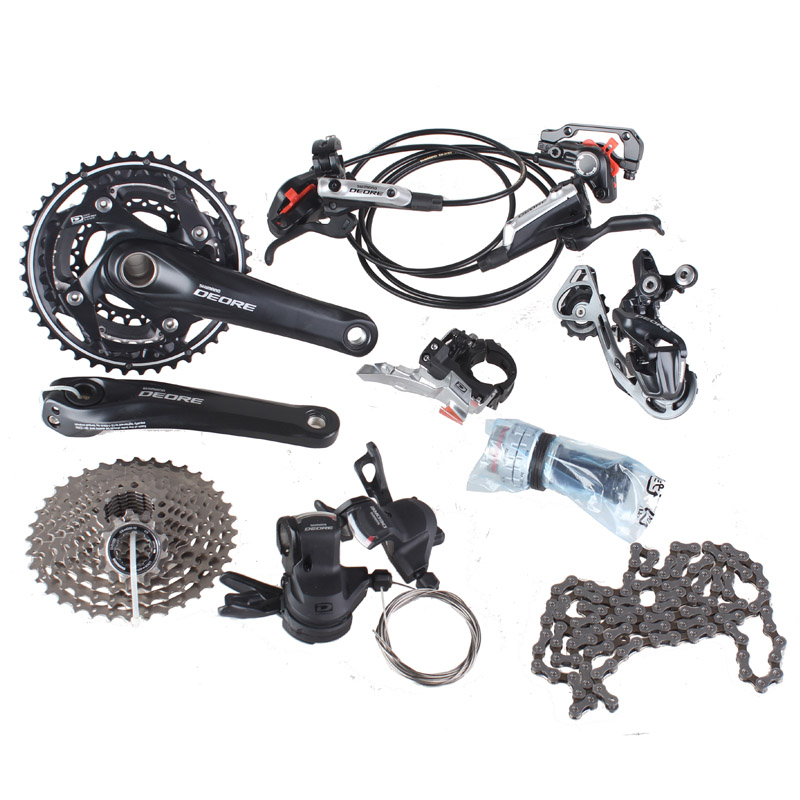 SHIMANO DEORE M610 with M615 Disc Brake Groupset  Derailleurs for MTB Mountain Bike of 30S 3 x 10S Bicycle Parts цена