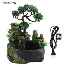Resin Waterfall Desktop Fountain Zen Meditation Waterfall Home Decoration( Without Color Changing Led Lighting ) - DISCOUNT ITEM  35% OFF Home & Garden