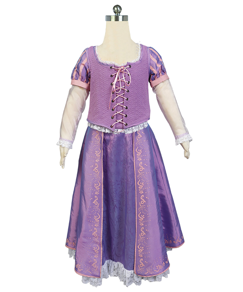 Tangled Cosplay Costume Girls Rapunzel Tangled Princess Dress for Child Kids Halloween Carnival Party Costume Fancy Dress