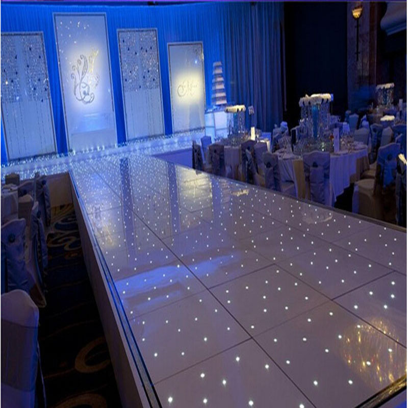 20*16 LINGHTED DANCE FLOOR White Twinkling LED T Stage