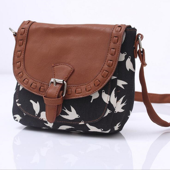 Canvas Printed Women Travel Messenger Bag Small Shoulder Bag Casual Sling Bag 1