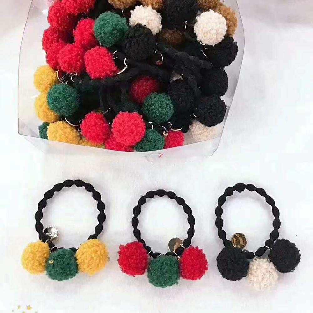 20 sztuk tkaniny pokryte okrągły koralik ball mix kolor włochaty wisiorek strona główna ogród rzemiosło Cabochon Scrapbooking DIY 18mm