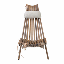 hot deal buy outdoor wood folding chair lounge with pillow and seat cushion outdoor furniture beach chair foldale patio balcony chair wooden