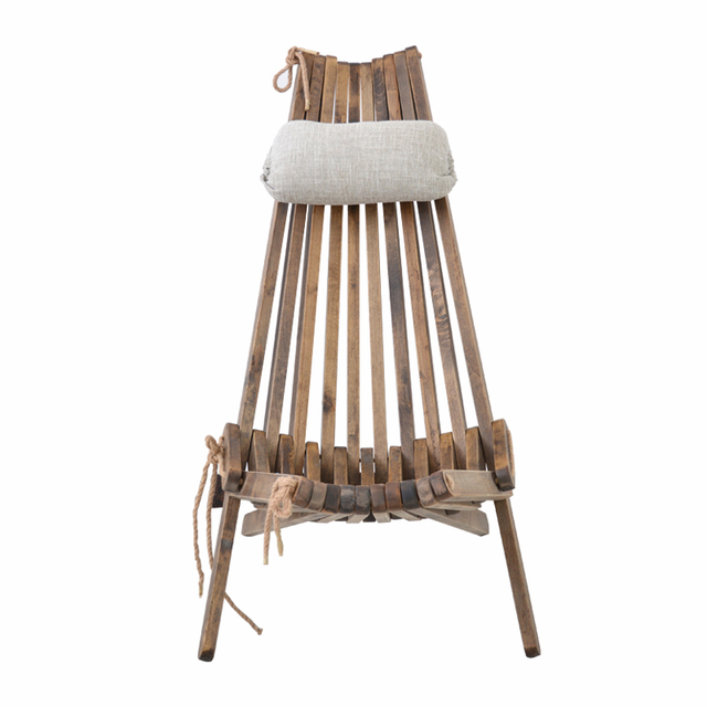 Wood Beach Chairs Chair Rental Utah Outdoor Folding Lounge With Pillow And Seat Cushion Furniture Foldale Patio Balcony Wooden