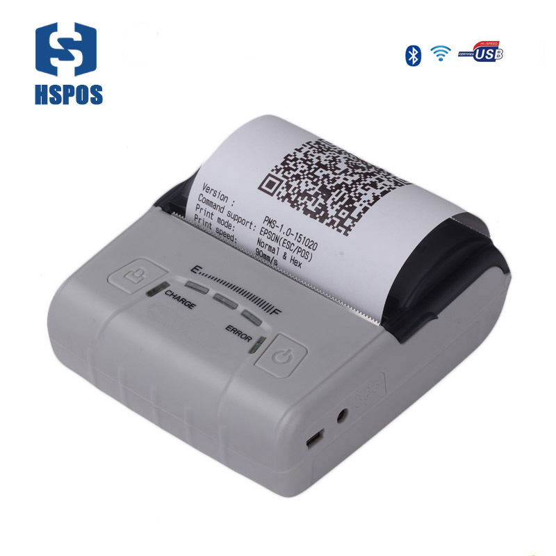 Thermal 80mm printer wifi receipt printer mobile bluetooth android pos impressora with 2500mAh battery handheld machine mht l58a bluetooth marketing device wireless wired pos thermal printer android tablet with rs232
