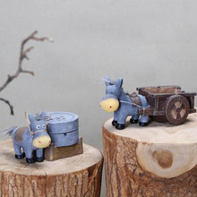 1 Piece Doll Accessories Cute Donkey Pull Cart Play House Creative Ashtray Craft Best Gift Children Baby Toys Accessories