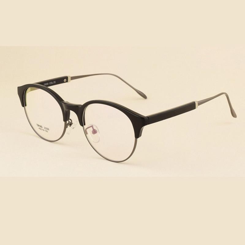 ᗖRetro Semi-rimless Glasses Frame Brand Designer Vintage Fullrim ...