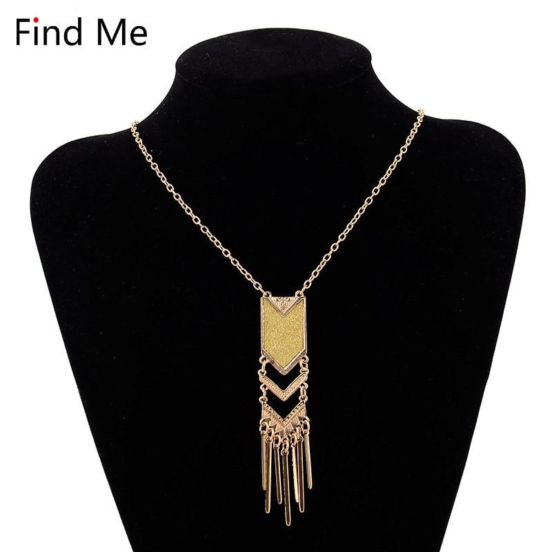 Find Me 2018 brand Fashion Boho long tassels Statement Necklace Pendants Ethnic big beads collar Choker Necklace Women Jewelry