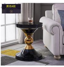 Nordic seating corner, several stainless steel, simple modern round creative marble, light luxury mobile sofa table