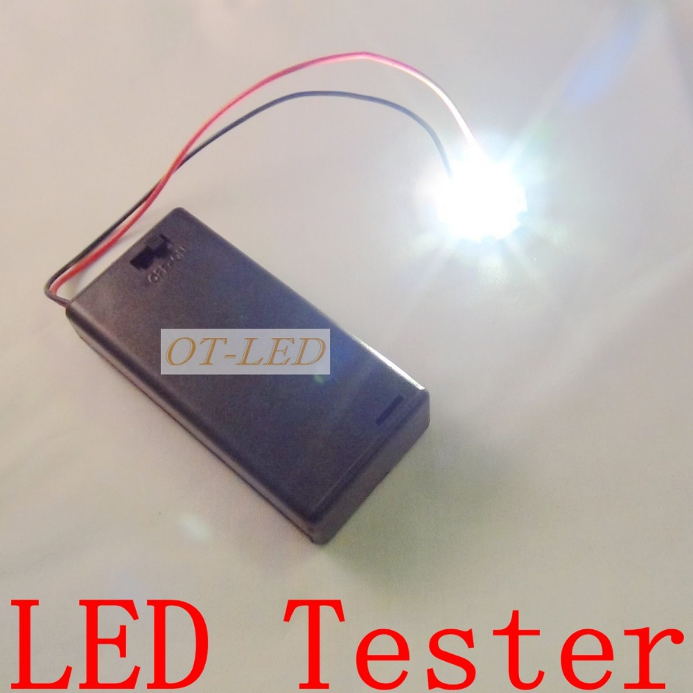 Freeshipping!Mini Box LED Tester Test Box for Input 3V  High Power LED Light-emitting Diode Bulb Lamp.
