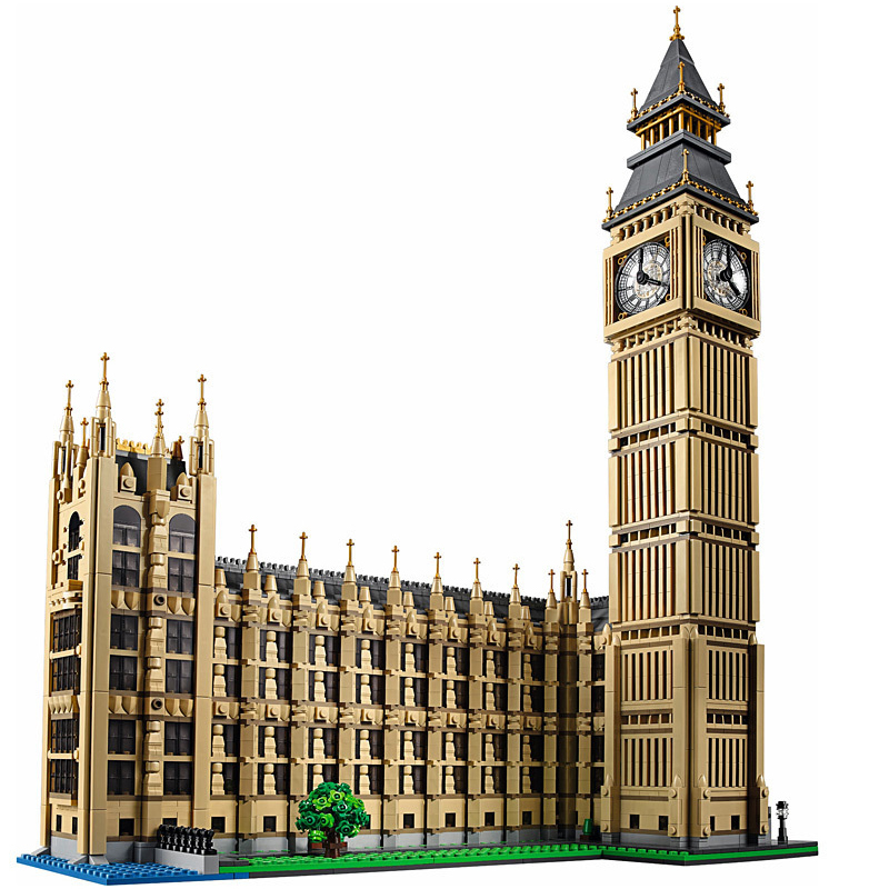 LEPIN City Series 17005 4163Pcs Street Big Ben Elizabeth Tower Model Building Kit Set DIY Blocks Bricks Toys Kids for Gfit 10253