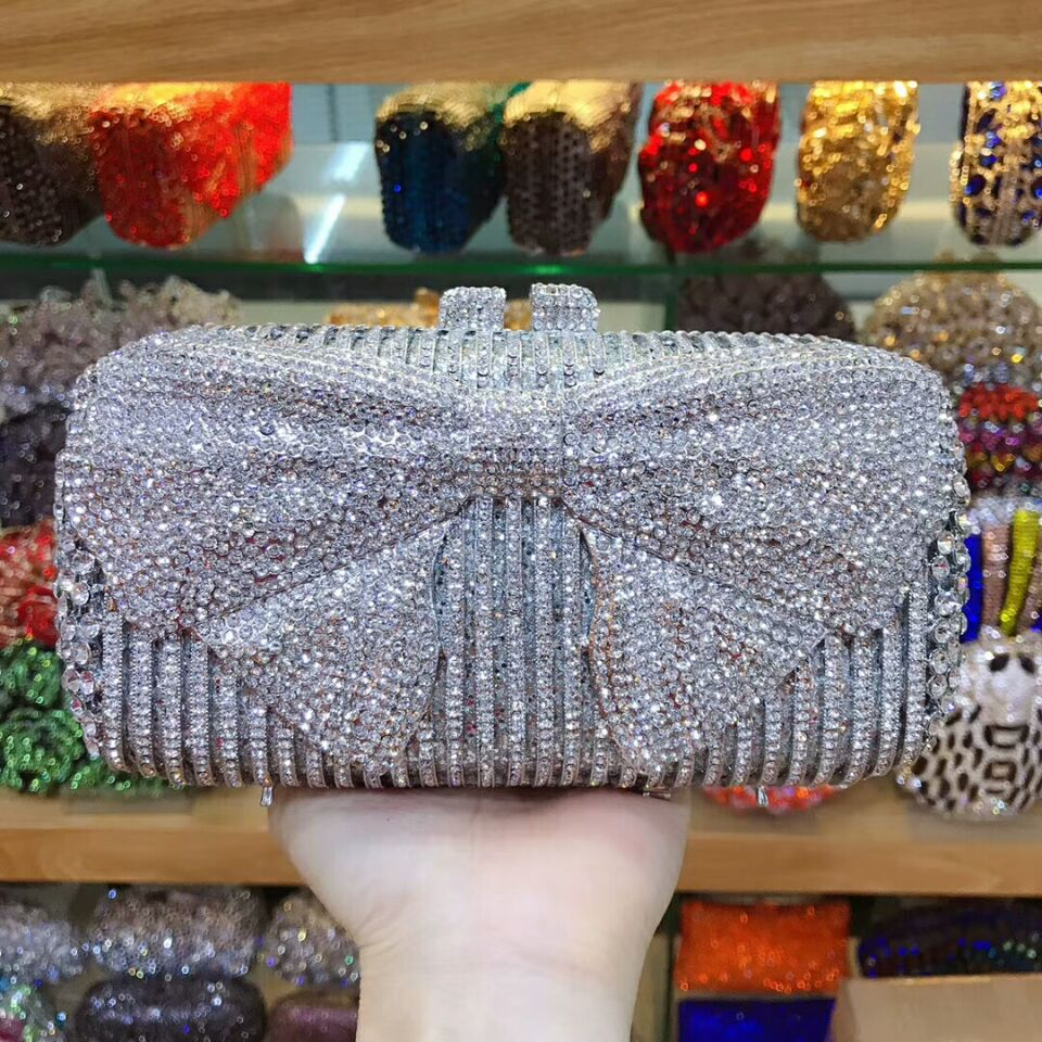 XIYUAN red/silver/sky blue/gold/black/gray Crystal Clutch Evening Bags Women Party Metal Minaudiere Handbag Wedding Purse bag цена