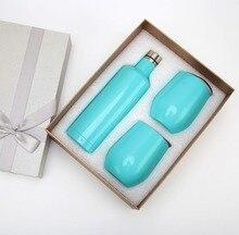 Удивительный творческий Подарочный набор бутылки вина Подарочная коробка для вина стакан пива красное вино чашка с двойными стенками вакуум крушки термос