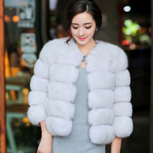 2017 Slim Fur Vest Fur Vest Coat Regular Promotion Thick Warm New Autumn And Winter Fashion Faux Finland Imported Fox Integer