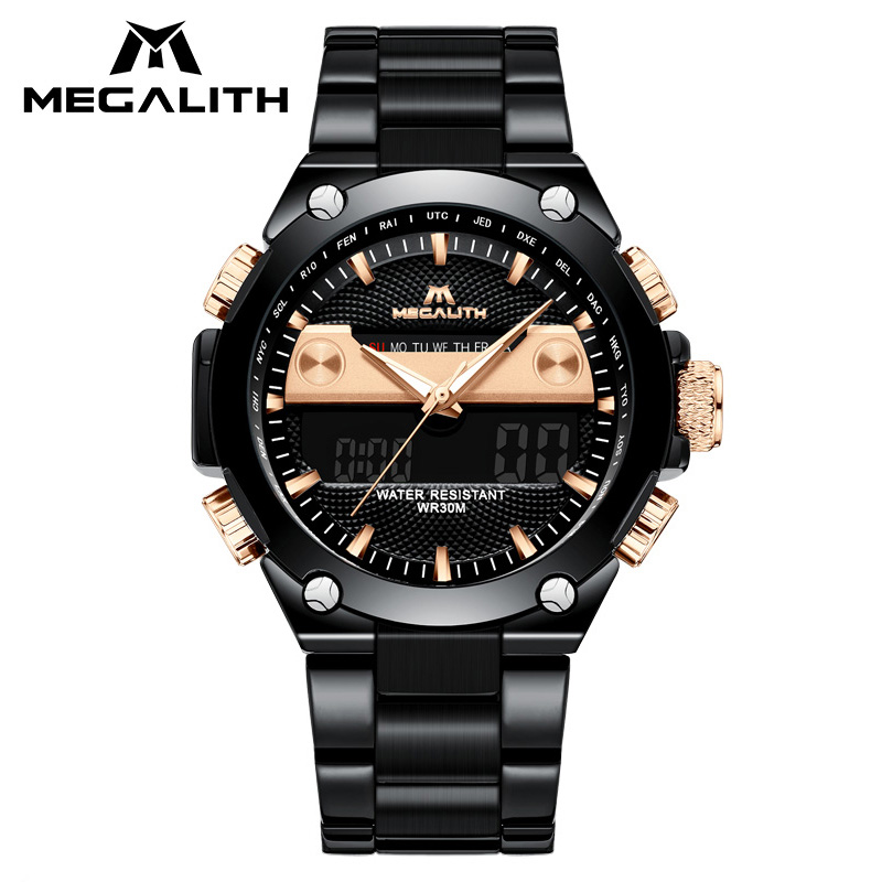 MEGALITH Military Sports Digital Mens Watch Luxury Waterproof Chronograph LED Alarm Date Wrist Watch For Men Relogio MasculinoMEGALITH Military Sports Digital Mens Watch Luxury Waterproof Chronograph LED Alarm Date Wrist Watch For Men Relogio Masculino