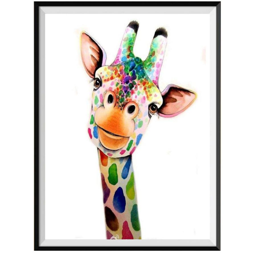 Diy Diamond Painting Animal Baby Animal Zebra Giraffe Diamond Embroidery Picture Of Rhinestone Mosaic Children Bedroom Decor Elegant And Graceful Diamond Painting Cross Stitch Arts,crafts & Sewing