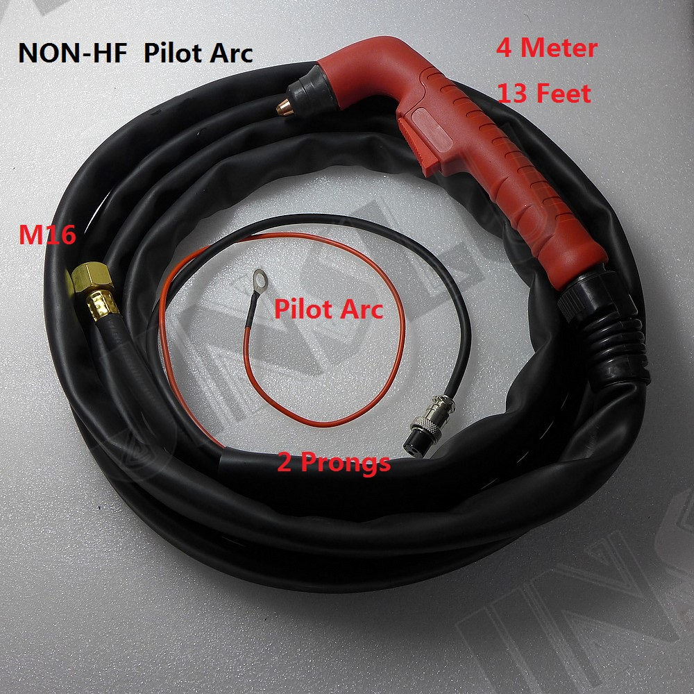 Non-HF Pilot Arc OEM Trafimet S45 Torch Completer 4M 13 Feet M16 2 Prongs p80 panasonic super high cost complete air cutter torches torch head body straigh machine arc starting 12foot