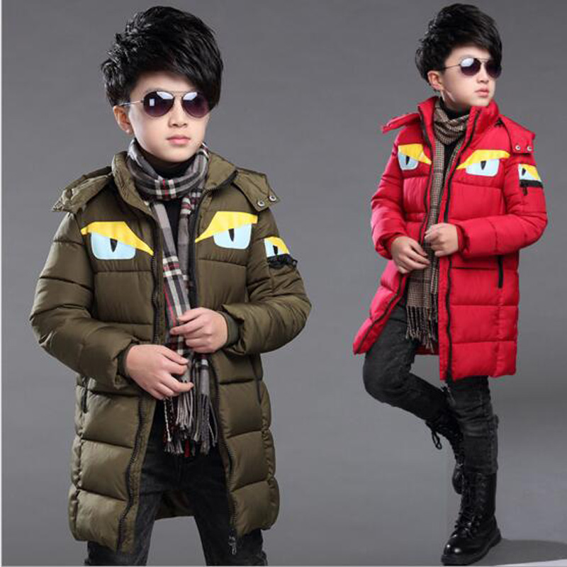 Boys cotton coat Winter clothes boys Hooded Jackets kids thicken outwear casual clothing for kids winter big children 7-13 years boys fleece jackets solid coat kid clothes winter coats 2017 fashion children clothing