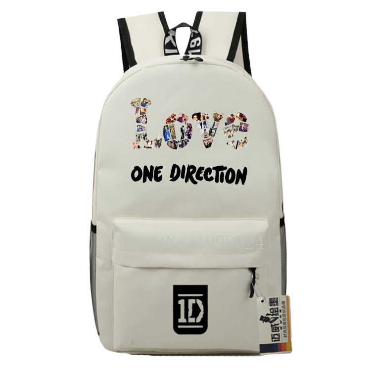 0b0feaa392 ... Teenagers One Direction 1D Bags Boy Girl Cartoon Backpacks Oxford Kids  Backpack Children Bagpack Travel Bags ...