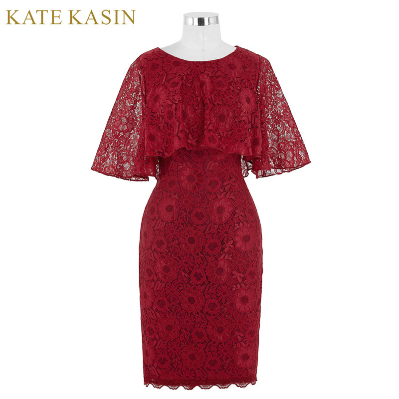 Real Photo Bodycon Short Evening Dresses with Cape 2017 New Arrival Bridal Prom Dresses Red Lace