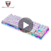 Motospeed K87S Mechanical Keyboard Backlit Game Gamer With Backlight RGB For Computer PC Gaming LED Keycap Key Cap Board Keybord