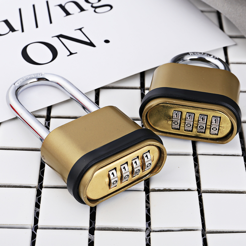 Mini Password Lock Warehouse Door Large Padlock Luggage Ferramentas Travel Dormitory Gym Children Luggage Bronze Anti-theft Lock waterproof anti rust padlock anti theft lock with keys for dormitory cabinet drawer warehouse iron gate