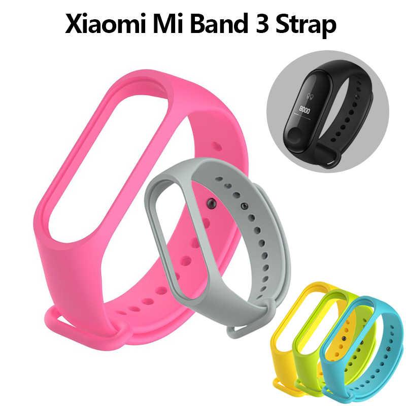 Yeni varış izle marka Mi Band 3 kayış Miband 3 silikon kayış Xiaomi Mi 3 için bilezik yedek bileklik