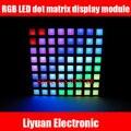 СКМ RGB LED точка модуль матричный дисплей/полноцветный общий анод 8*8 решетки панелей/площадь точка дисплей