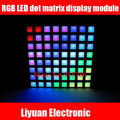 SCM RGB LED dot matrix display module / Full-color common anode 8 * 8 lattice panels / square dot display