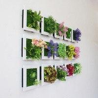 Roślin Sukulenty 3D Ścianie Zdjęcia Połączenie Ramki Wall Hanging Hurtownia Sztucznych Kwiatów